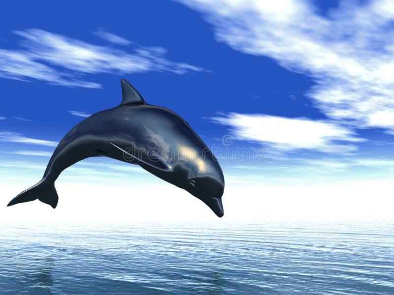 Z wody delfinu doskakiwanie ilustracji