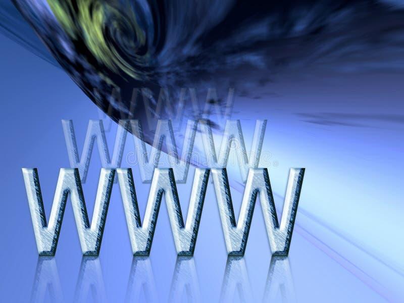 Z WWW ziemski błękit tło ilustracja wektor