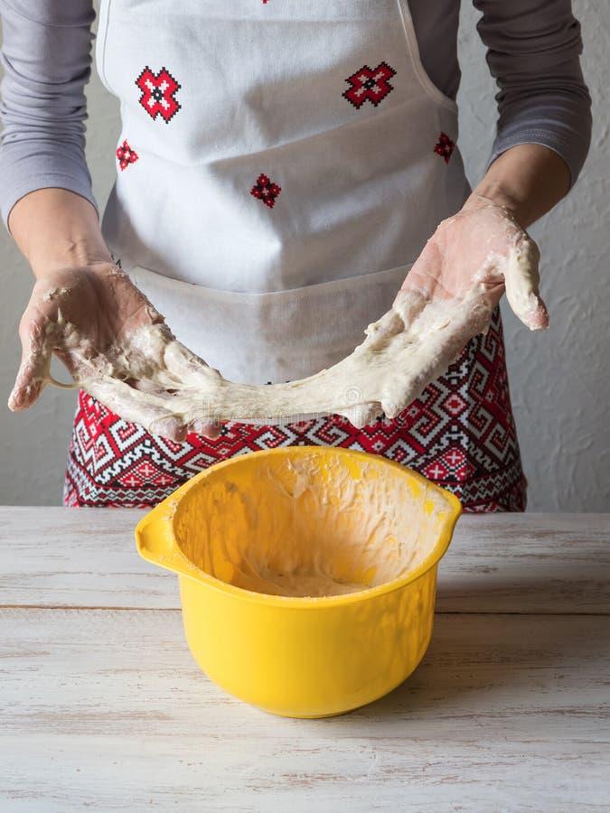 Z?y ciasto Kuchenna katastrofa, zły kulinarny pojęcie fotografia stock