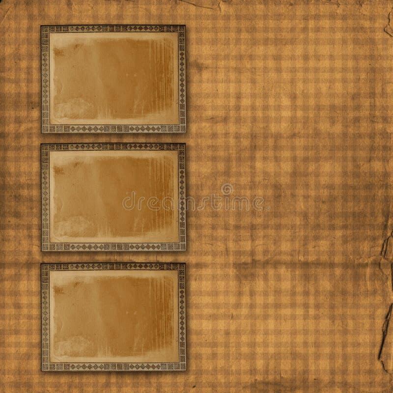Z złocistym ornamental alienujący papierowy tło royalty ilustracja