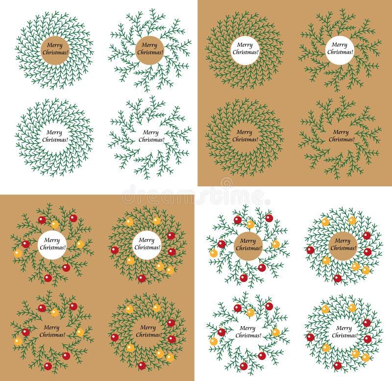 Z zabawkami Boże Narodzenie wianek ilustracja wektor