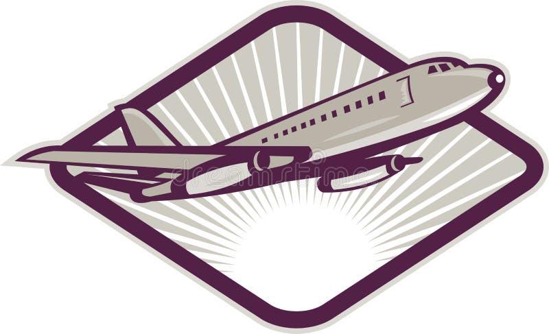 z zabranie dżetowy samolotu jumbo royalty ilustracja