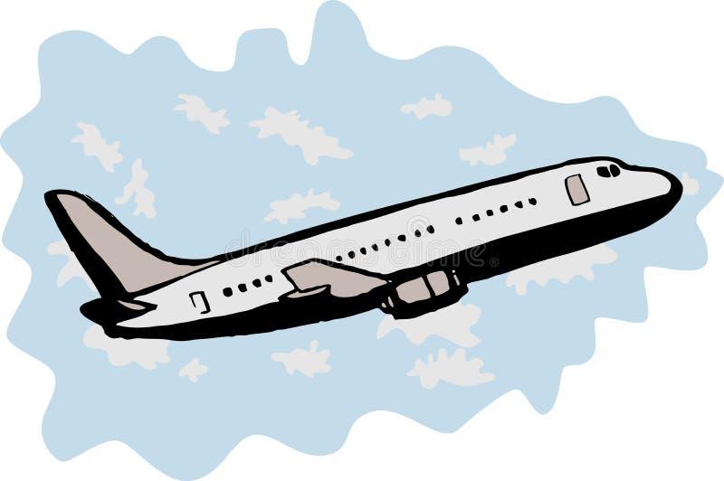 z zabranie dżetowy samolotu jumbo ilustracji