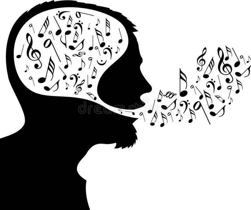 z zastrzeżeniem muzyki. ilustracja wektor