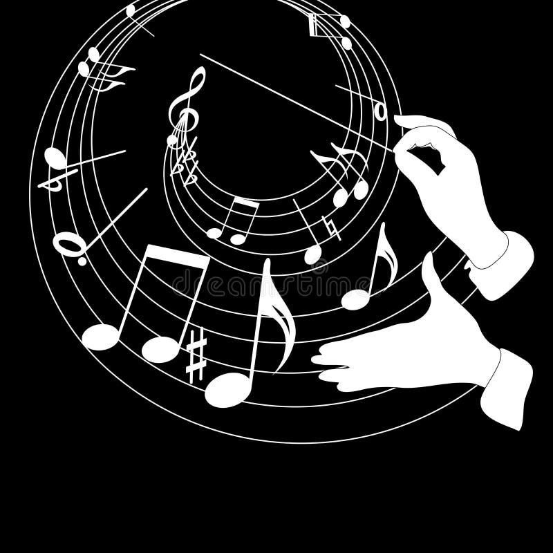 z zastrzeżeniem muzyki. royalty ilustracja