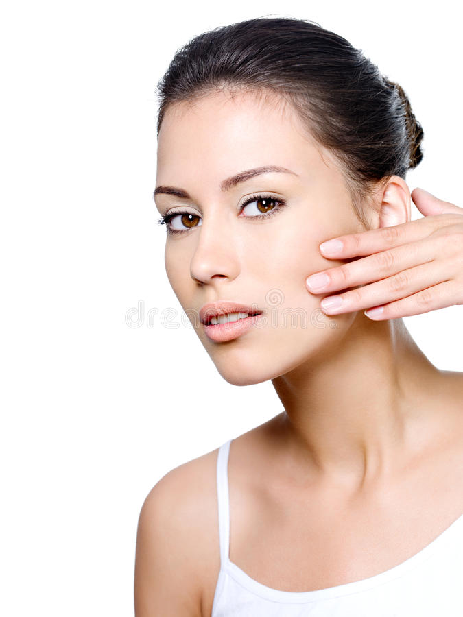 Z zdrową skórą piękna kobieta zdjęcie royalty free