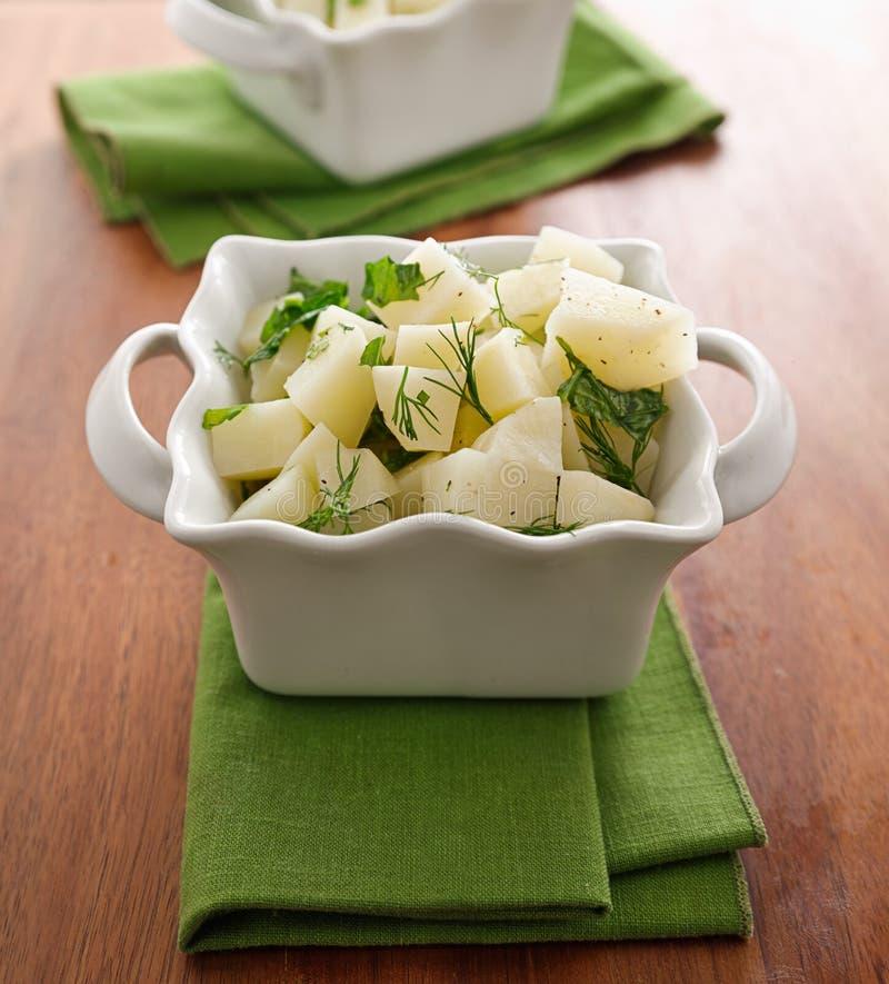 Z ziele świeża kartoflana sałatka fotografia stock