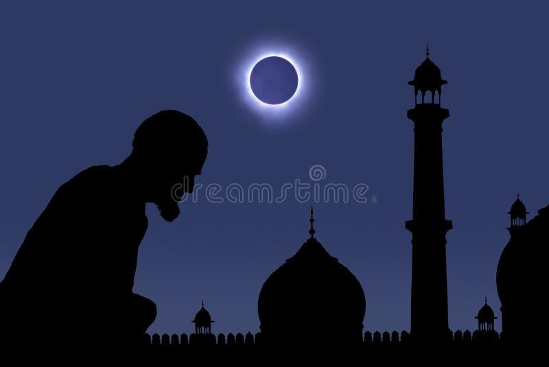 zaćmienia modlenie zdjęcia royalty free