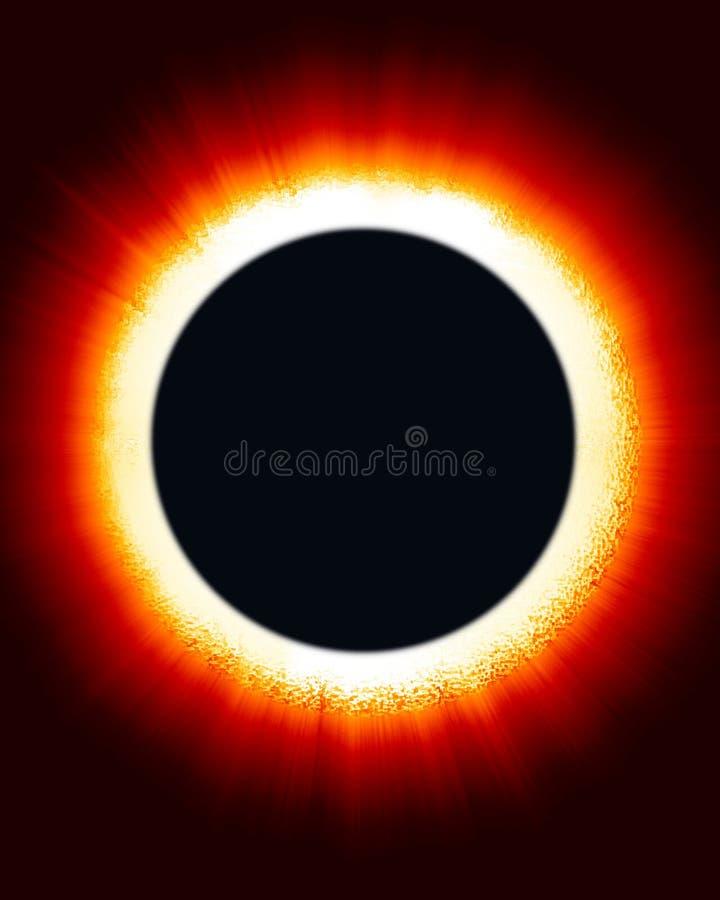 zaćmienia słońca. ilustracji