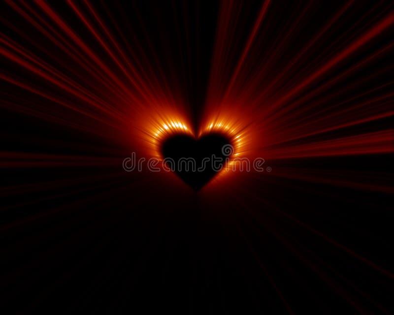 zaćmienia serce ilustracja wektor