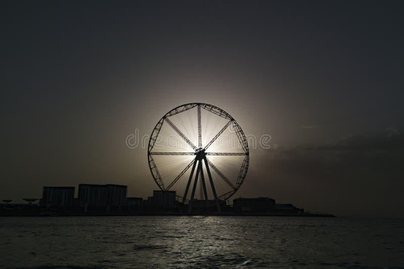 Zaćmienie Dubaj okiem zdjęcia royalty free