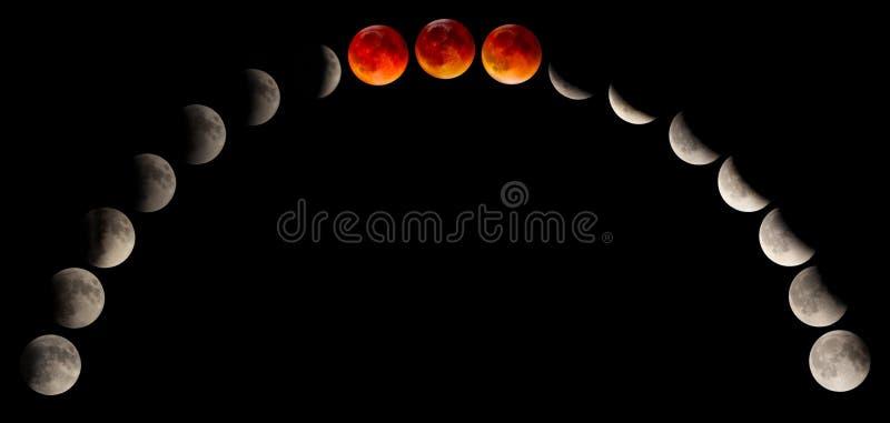 Zaćmienie krwi księżyc obrazy royalty free