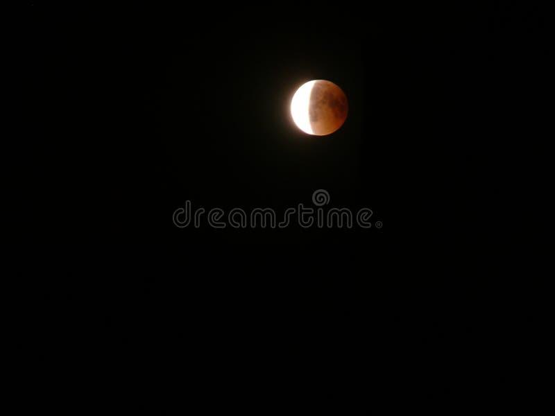Zaćmienie Księżyca krwista księżyc zdjęcie stock