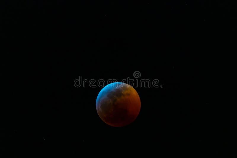 Zaćmienie Księżyca Styczeń 2019 fotografia stock