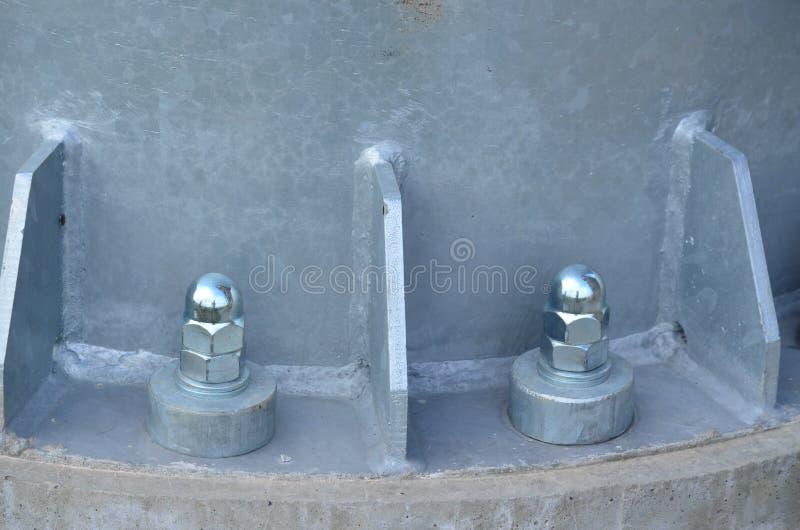 Załatwiać metalu słupa punkt obserwacyjnego Trigon, Południowa cyganeria zdjęcie stock