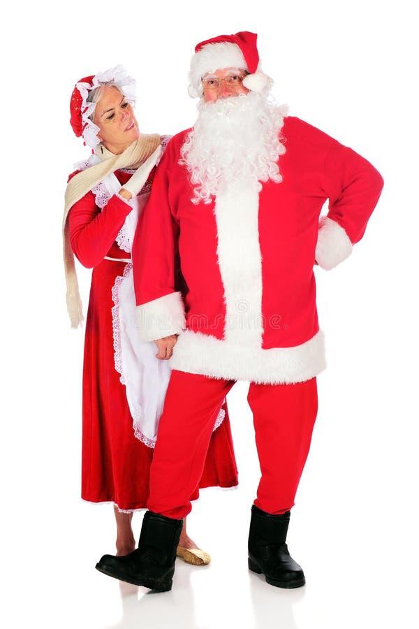 Załatwiać Up Santa zdjęcie stock