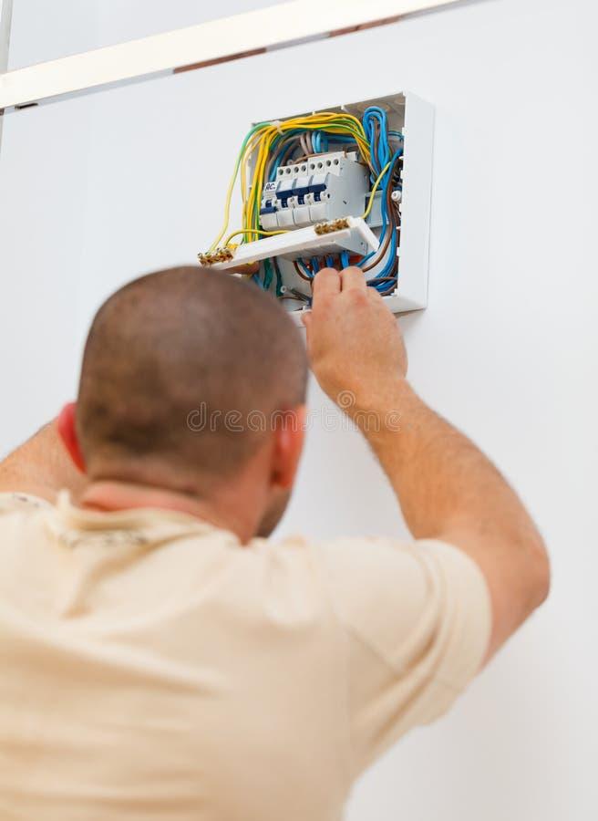 Załatwiający Elektrycznego lont w domu obrazy stock