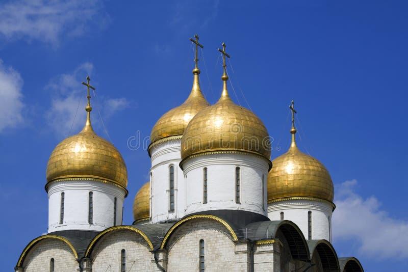 założenie katedralny Kreml Moscow Rosji obrazy royalty free