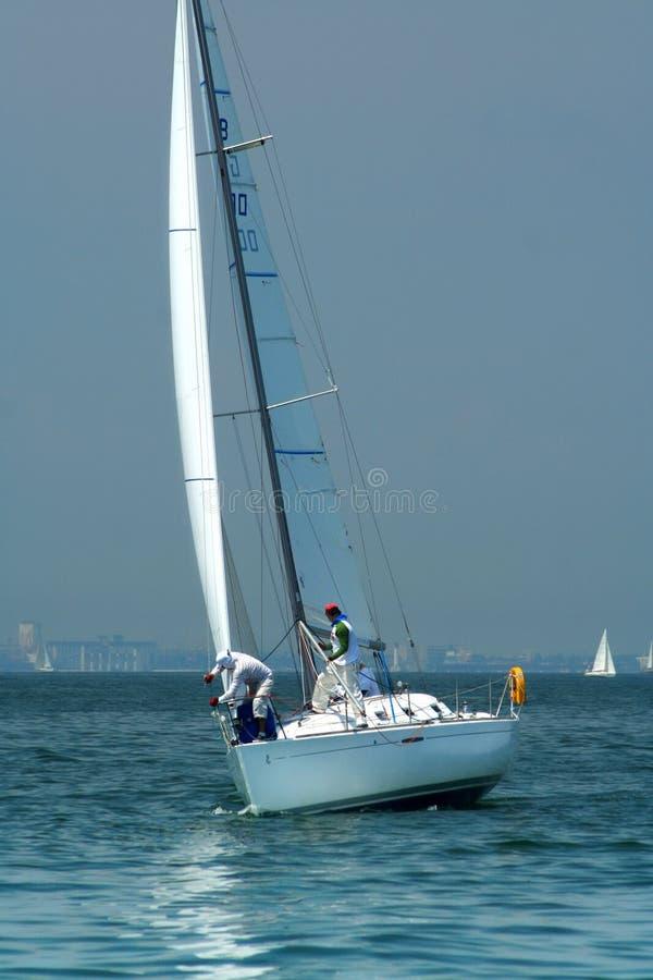 załoga 2 jacht fotografia royalty free