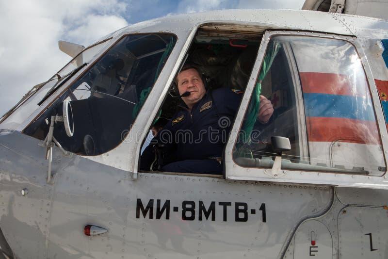 Załoga Emergencies ministerstwa helikopter obrazy royalty free