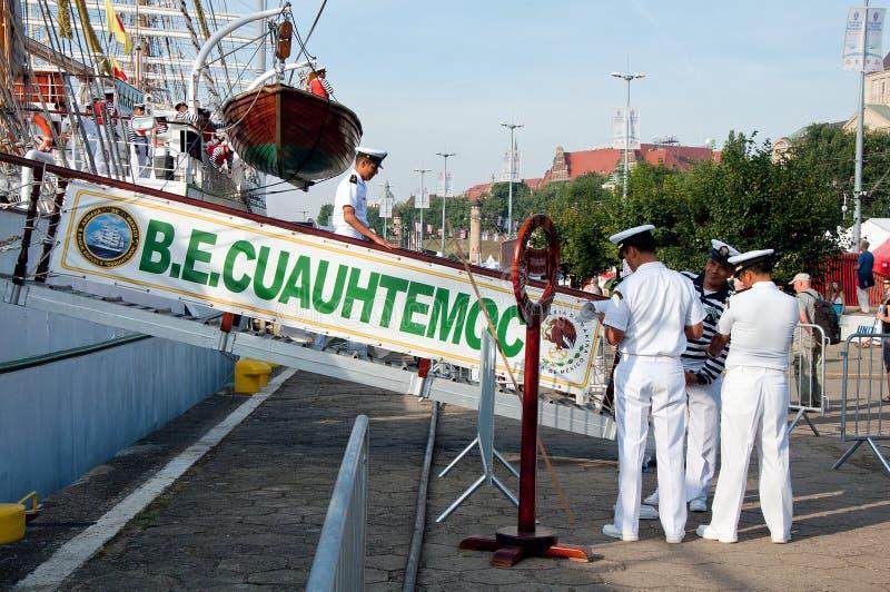 Załoga ręka Cuauhtemoc w Szczecińskim zdjęcie stock