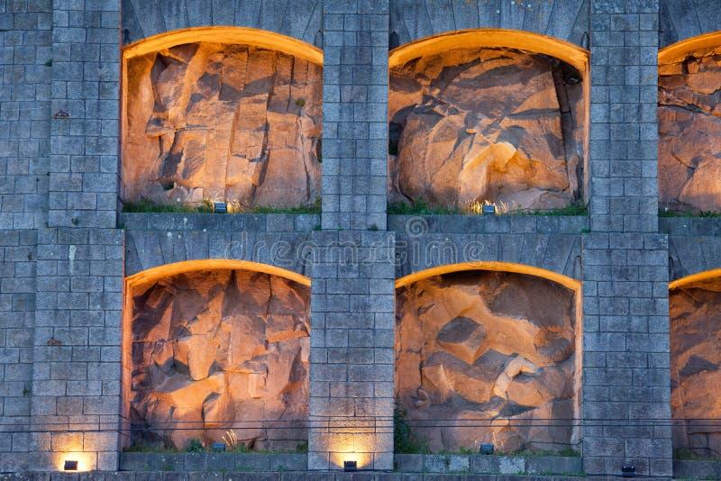 Zaświecać up niszy Serra robią Pilar monasterowi w Portugalia zdjęcia stock