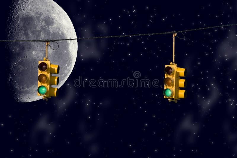zaświeca noc ilustracji