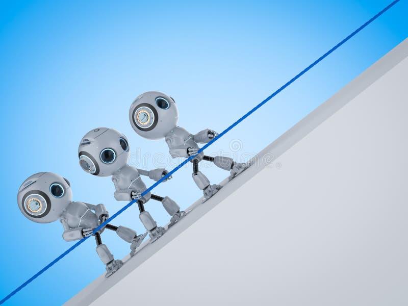 Zażarta rywalizacja robot royalty ilustracja
