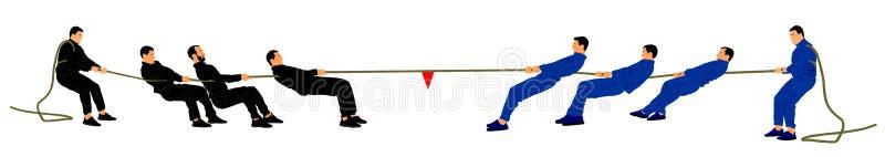 Zażarta rywalizacja wektoru ilustracja Silnego mężczyzna dyscyplina royalty ilustracja