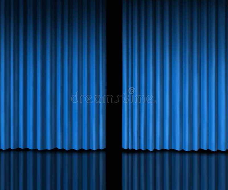za błękitny zasłoną ilustracji