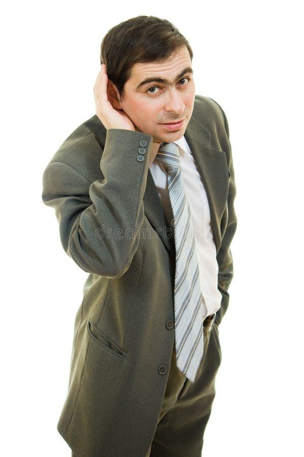 za biznesowymi uszatymi ręki mężczyzna potomstwami obrazy stock
