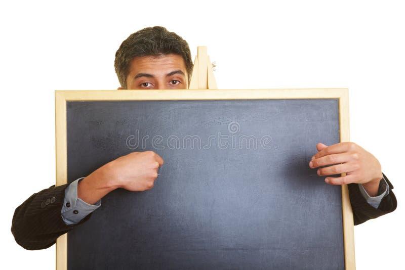 za blackboard mężczyzna obrazy royalty free