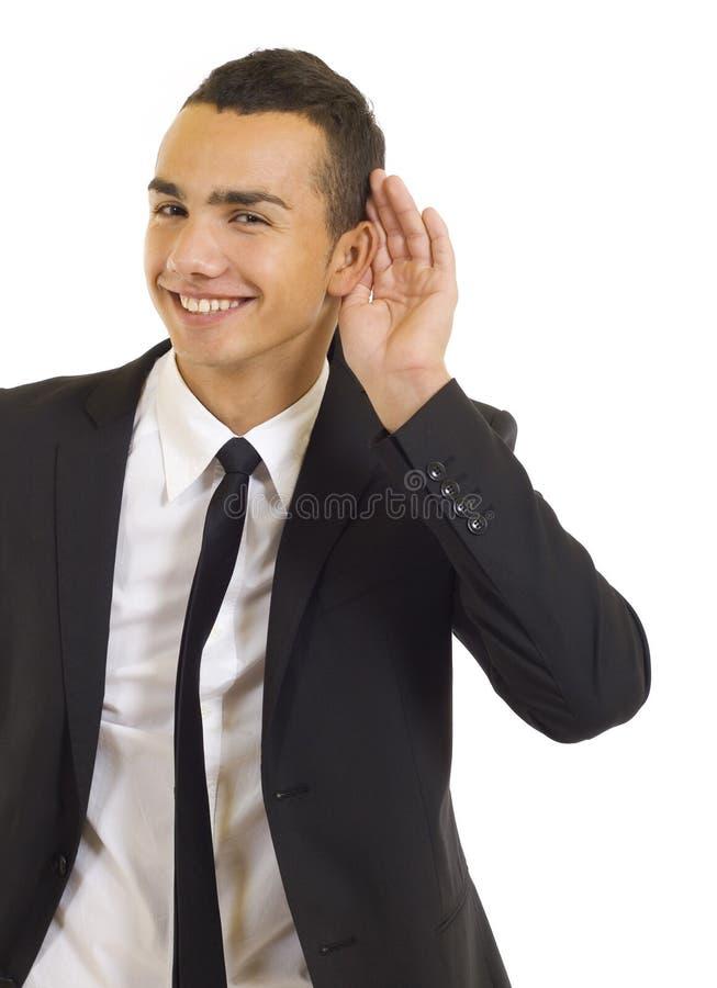 za ręka uszatego mężczyzna zdjęcie royalty free