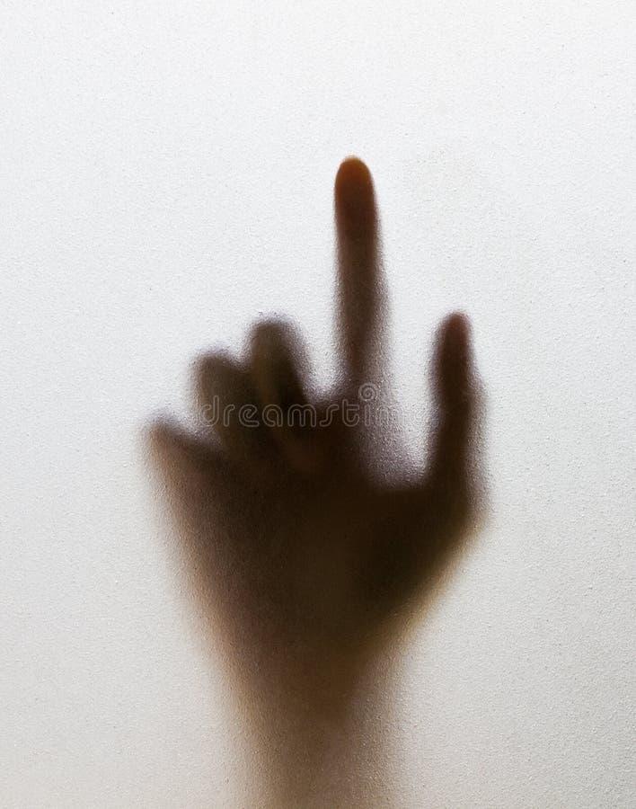 za rozmytym rozmytego szkła ręki cieniem obrazy stock