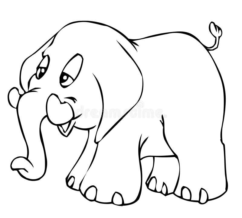 za słonia ilustracji