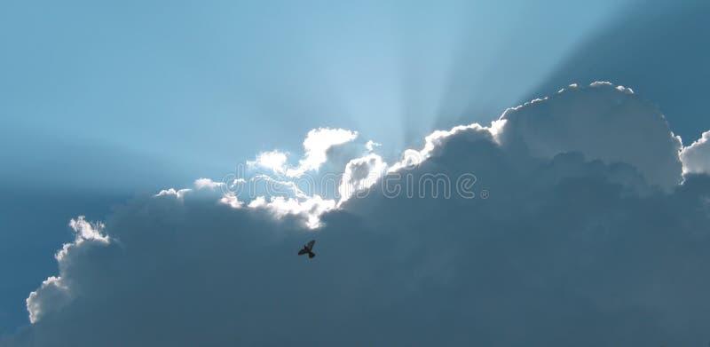 Download Za Włamanie Się Chmur światłem Zdjęcie Stock - Obraz złożonej z błękitny, projektujący: 138566