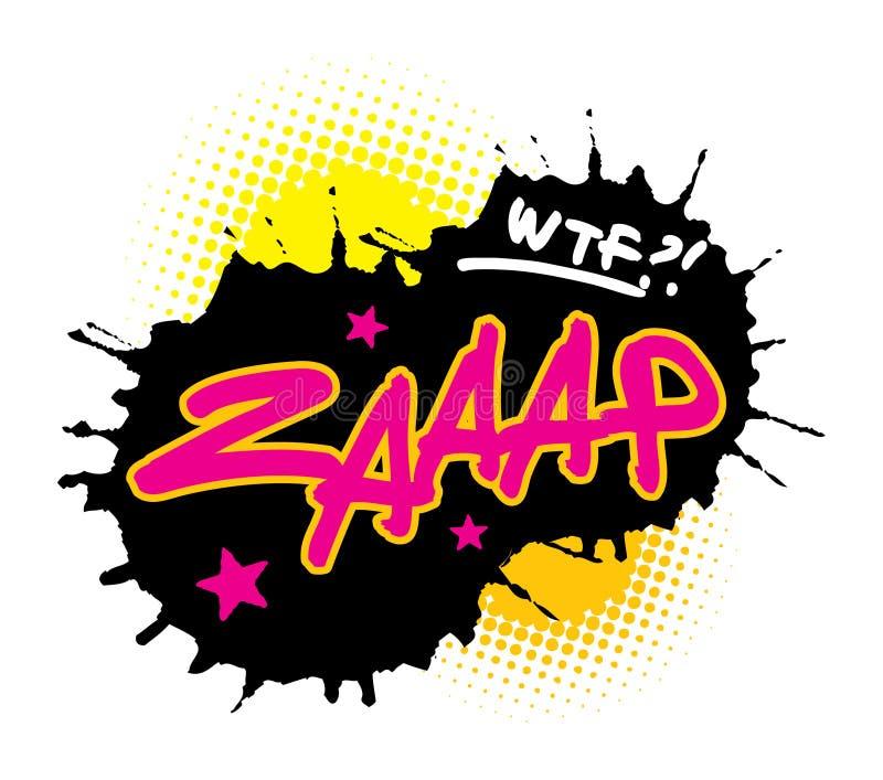 Zaaap vector illustration