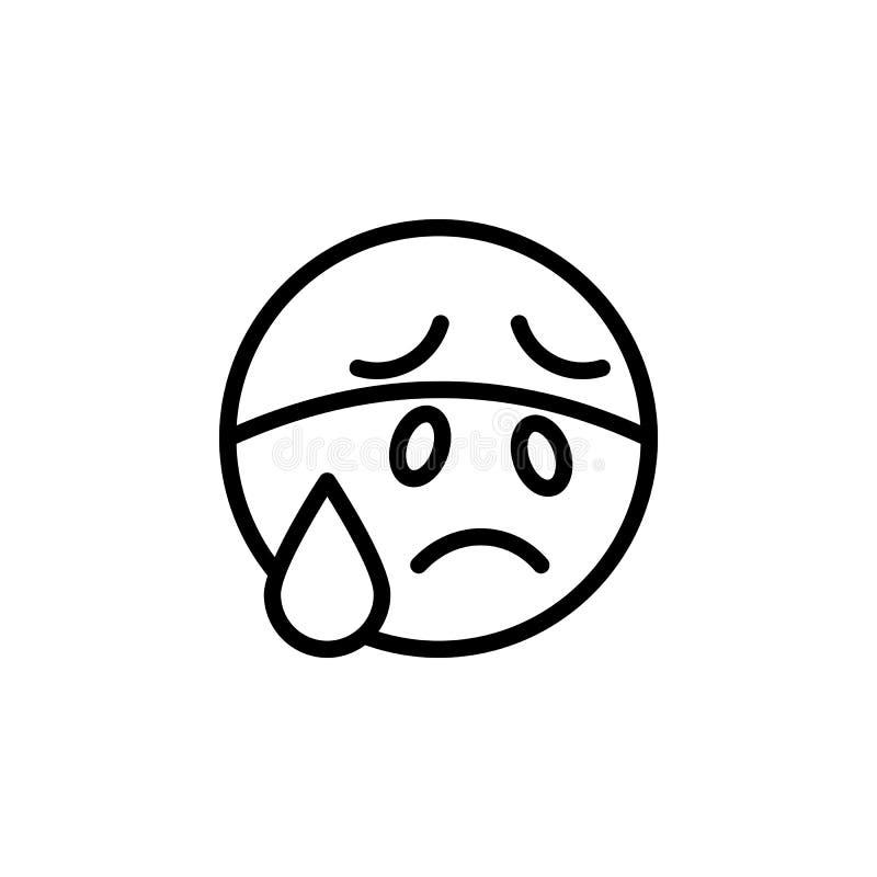Zaaferowana emoji konturu ikona Znaki i symbole mog? u?ywa? dla sieci, logo, mobilny app, UI, UX ilustracji