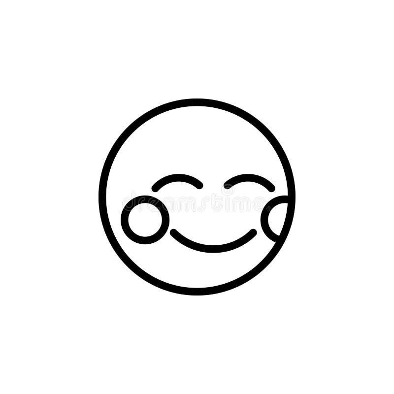 Zaaferowana emoji konturu ikona Znaki i symbole mog? u?ywa? dla sieci, logo, mobilny app, UI, UX royalty ilustracja