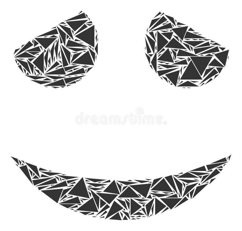Zaaferowana uśmiech mozaika trójboki royalty ilustracja