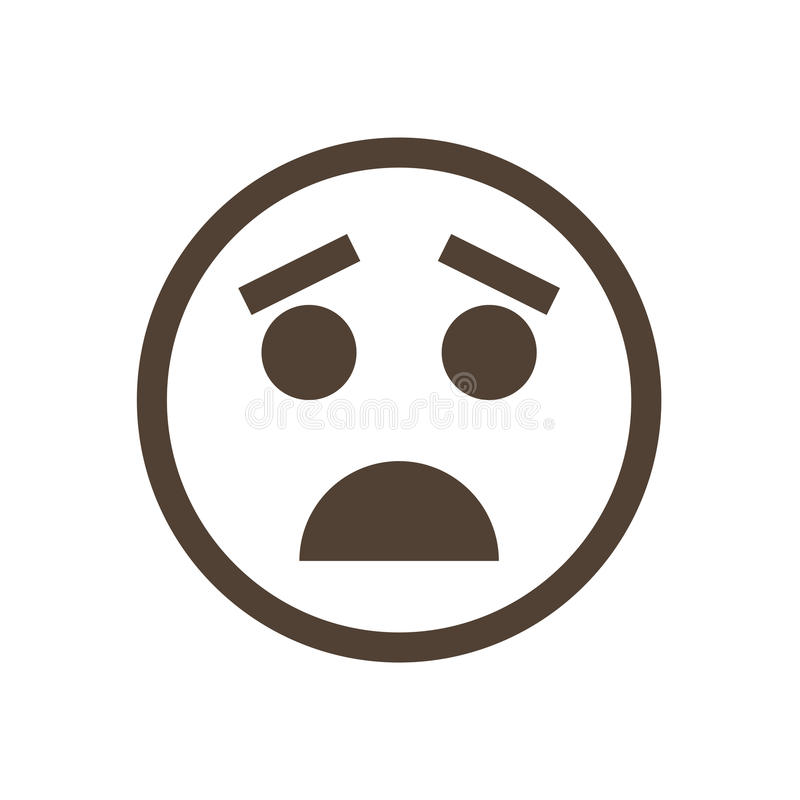 Zaaferowany emoticon Ludzka emoci ikona zdjęcie royalty free