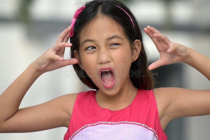Zaakcentowana Śliczna Różnorodna dziewczyna fotografia stock