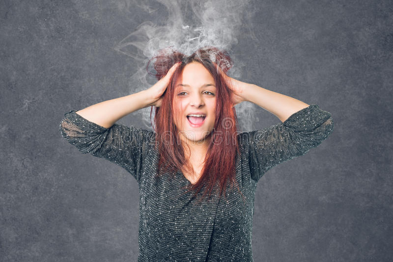 Zaakcentowana kobieta z burnout fotografia stock