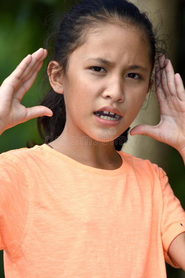 Zaakcentowana nastolatek dziewczyna fotografia royalty free