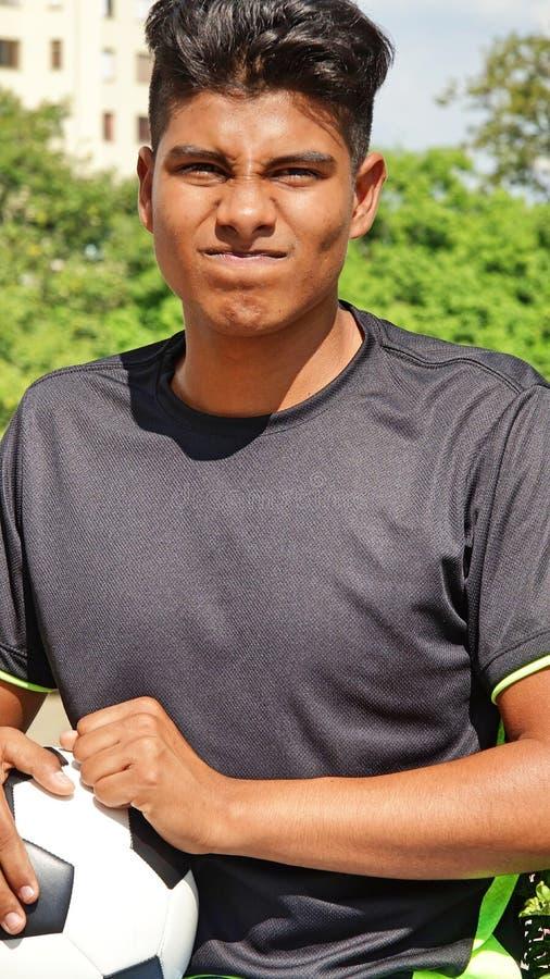 Zaakcentowany Męski gracz piłki nożnej fotografia stock
