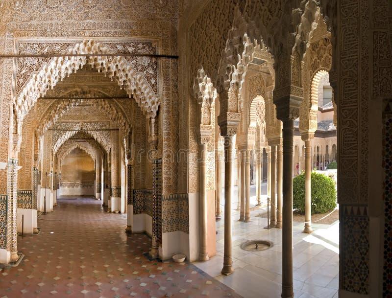Zaal in Alhambra royalty-vrije stock foto's