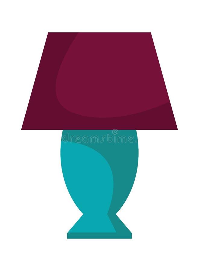 Zaal beeldverhaal van de nacht het lichte lamp stock illustratie