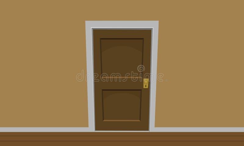 Zaal deur stock illustratie