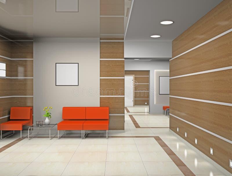 Zaal een modern bureau vector illustratie