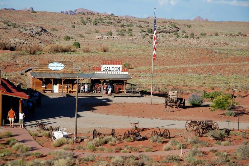 Zaal en het wilde westen die in de prairie voelen royalty-vrije stock foto